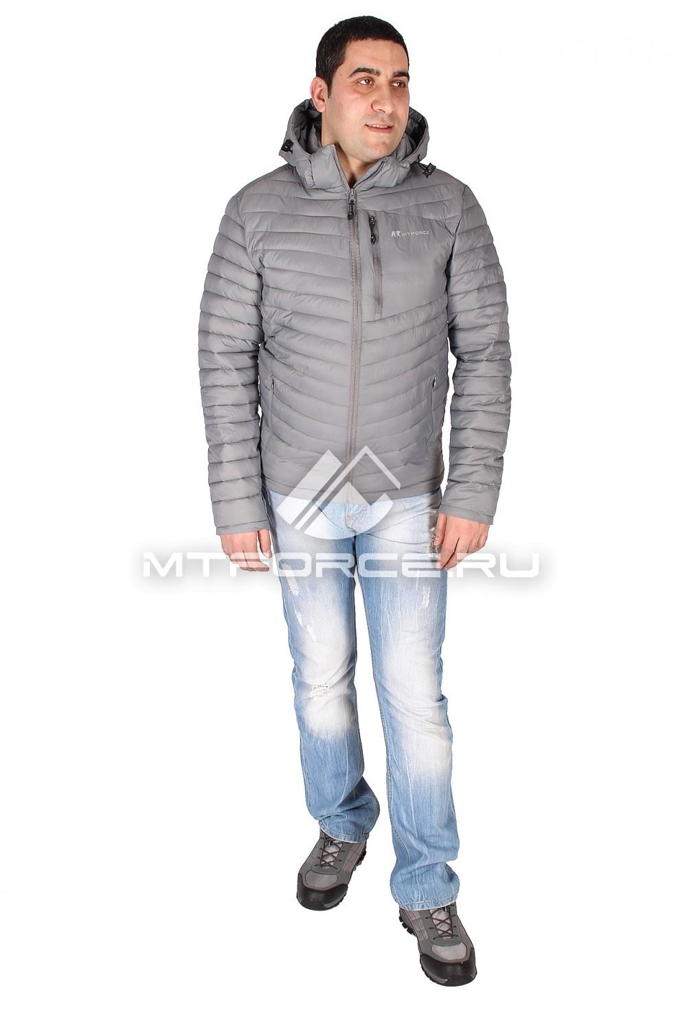 Купить                                  оптом Куртка мужская стеганная серого цвета 1606Sr