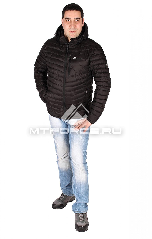 Купить оптом Куртка мужская стеганная черного цвета 1606Ch