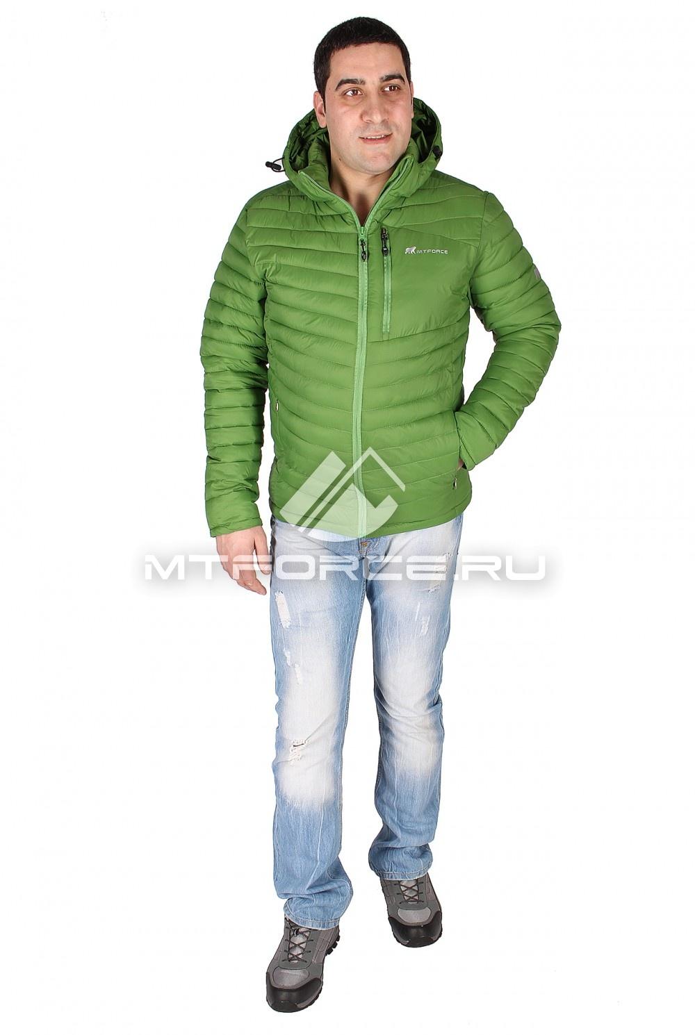 Купить                                  оптом Куртка мужская стеганная зеленого цвета 1606Z в Новосибирске