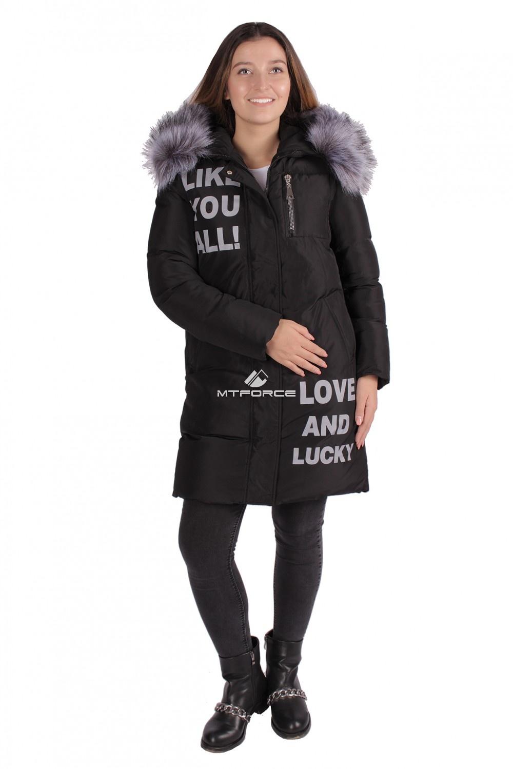 Купить                                  оптом Пуховик ТРЕНД женский зимний черного цвета 16085Ch