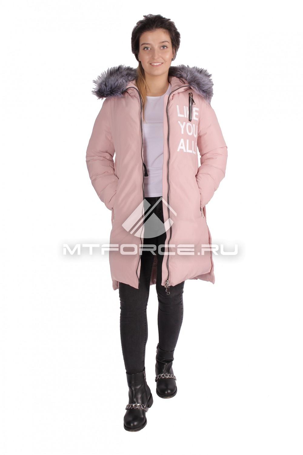 Купить                                  оптом Пуховик ТРЕНД женский зимний розового цвета 16092R