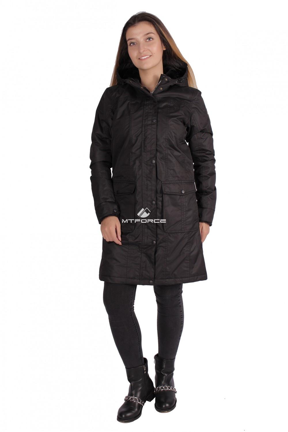 Купить                                  оптом Куртка парка демисезонная женская ПИСК сезона черного цвета 16099Ch