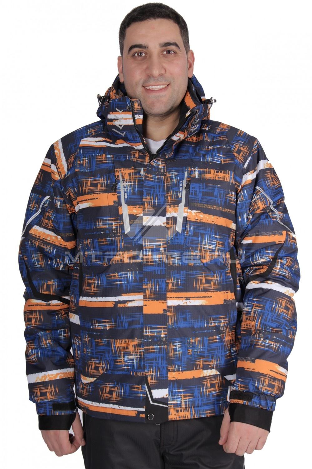 Купить                                  оптом Куртка горнолыжная мужская оранжевого цвета 16100O
