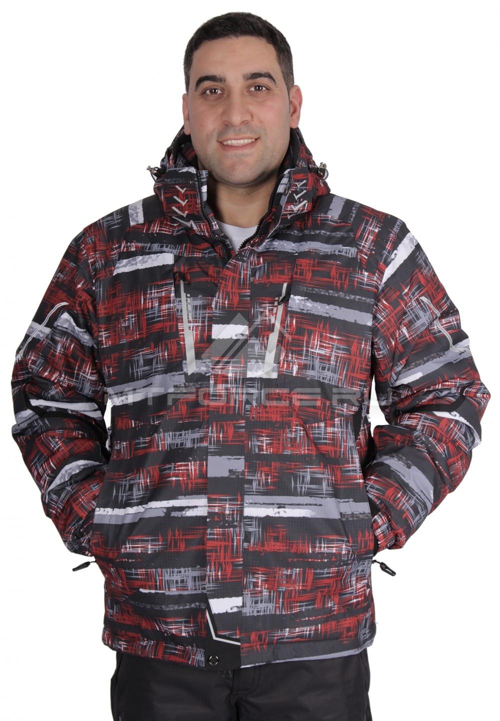 Купить                                  оптом Куртка горнолыжная мужская красного цвета 1610Kr