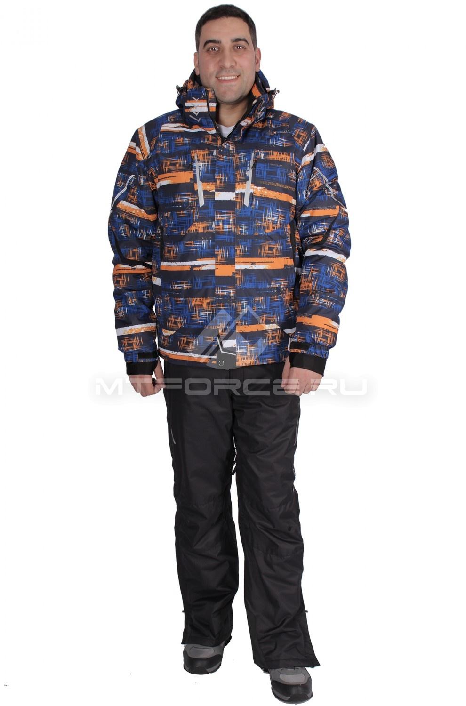 Купить                                  оптом Костюм горнолыжный мужской оранжевого цвета 01610O