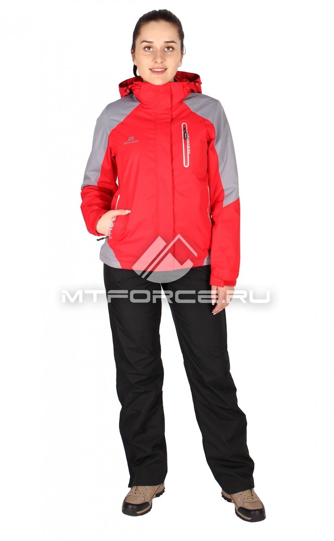 Купить оптом Костюм женский красного цвета 01610Kr