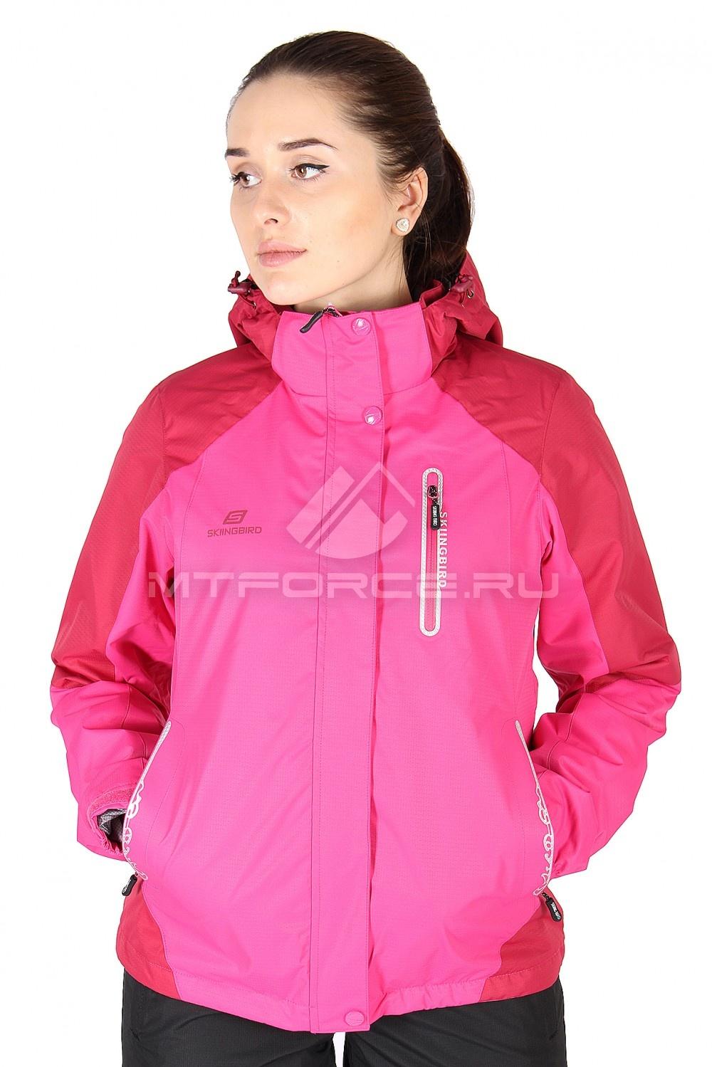 Купить                                  оптом Куртка спортивная женская весна розового цвета 1610R