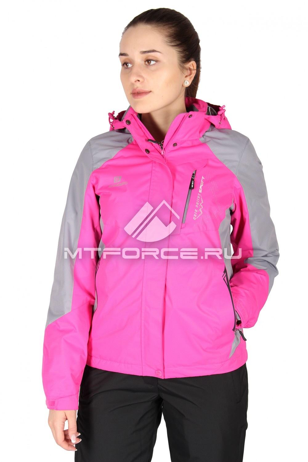 Купить                                  оптом Куртка женская весна розового цвета 1612R