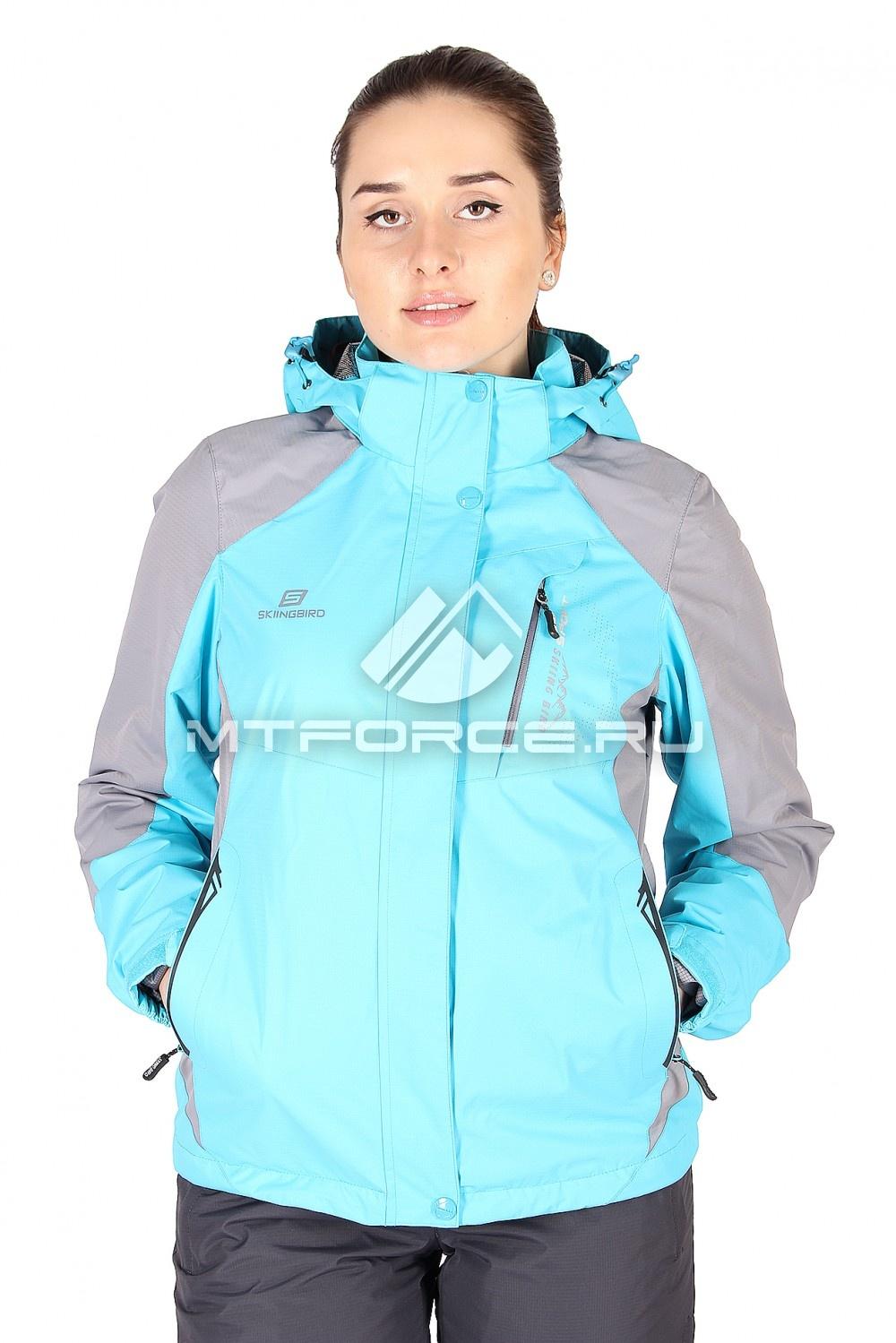 Купить                                  оптом Куртка спортивная женская весна голубого цвета 1612Gl