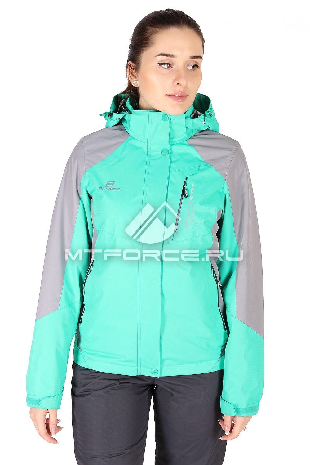 Купить                                  оптом Куртка спортивная женская весна зеленого цвета 1612Z