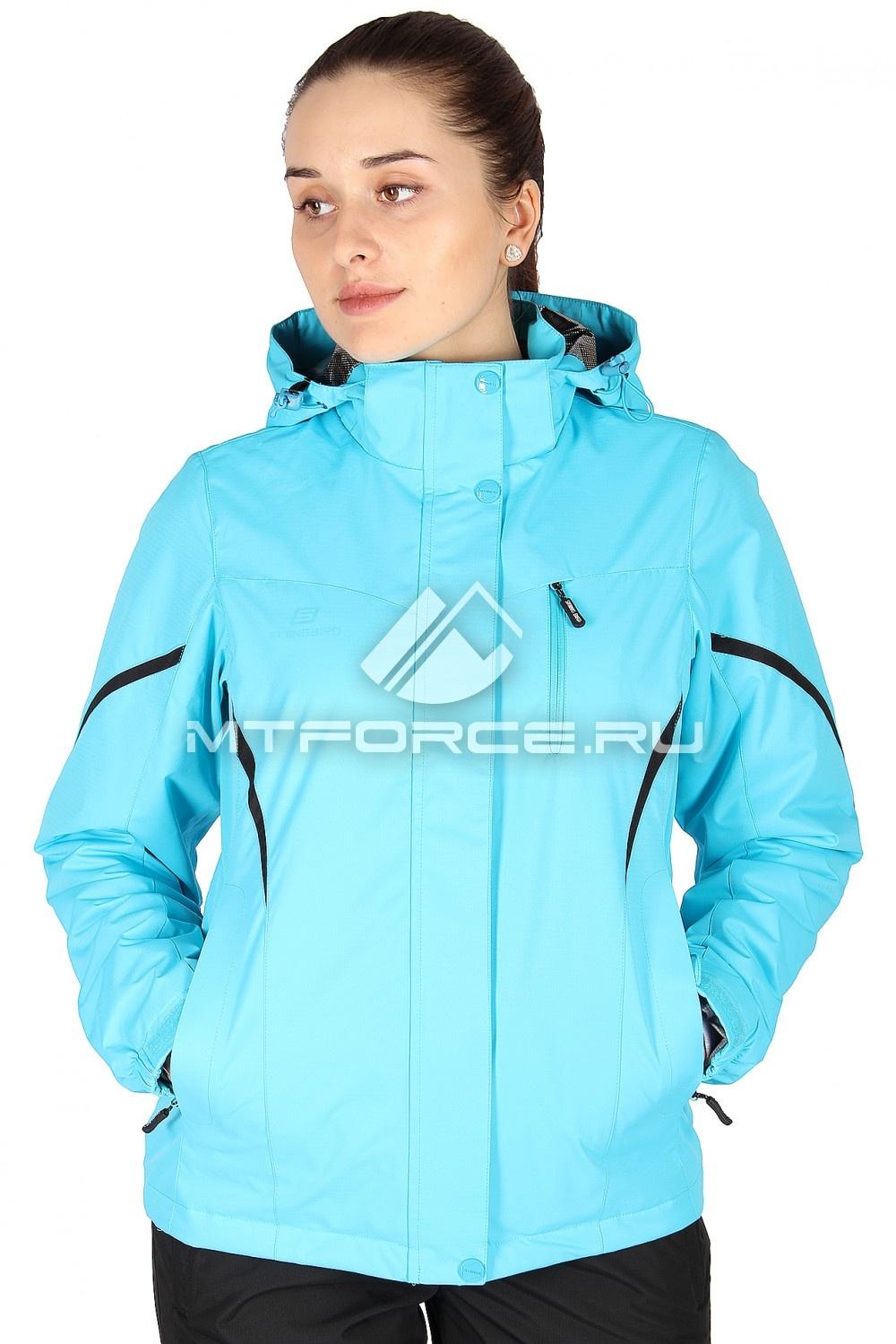 Купить                                  оптом Куртка спортивная женская весна синего цвета 1615S