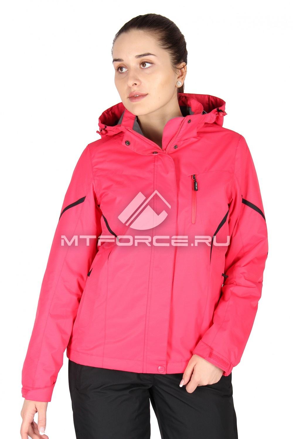 Купить                                  оптом Куртка спортивная женская весна красного цвета 1615Kr