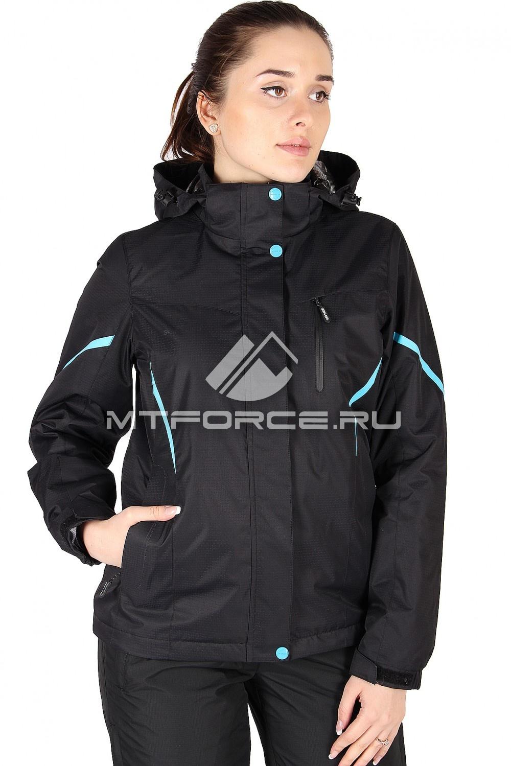 Купить                                  оптом Куртка спортивная женская весна черного цвета 1615Ch