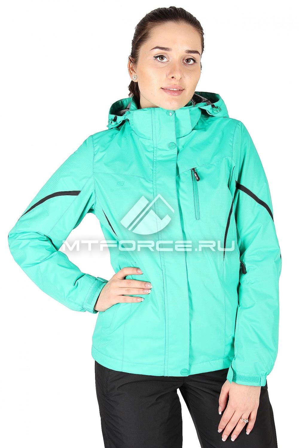 Купить                                  оптом Куртка спортивная женская весна зеленого цвета 1615Z