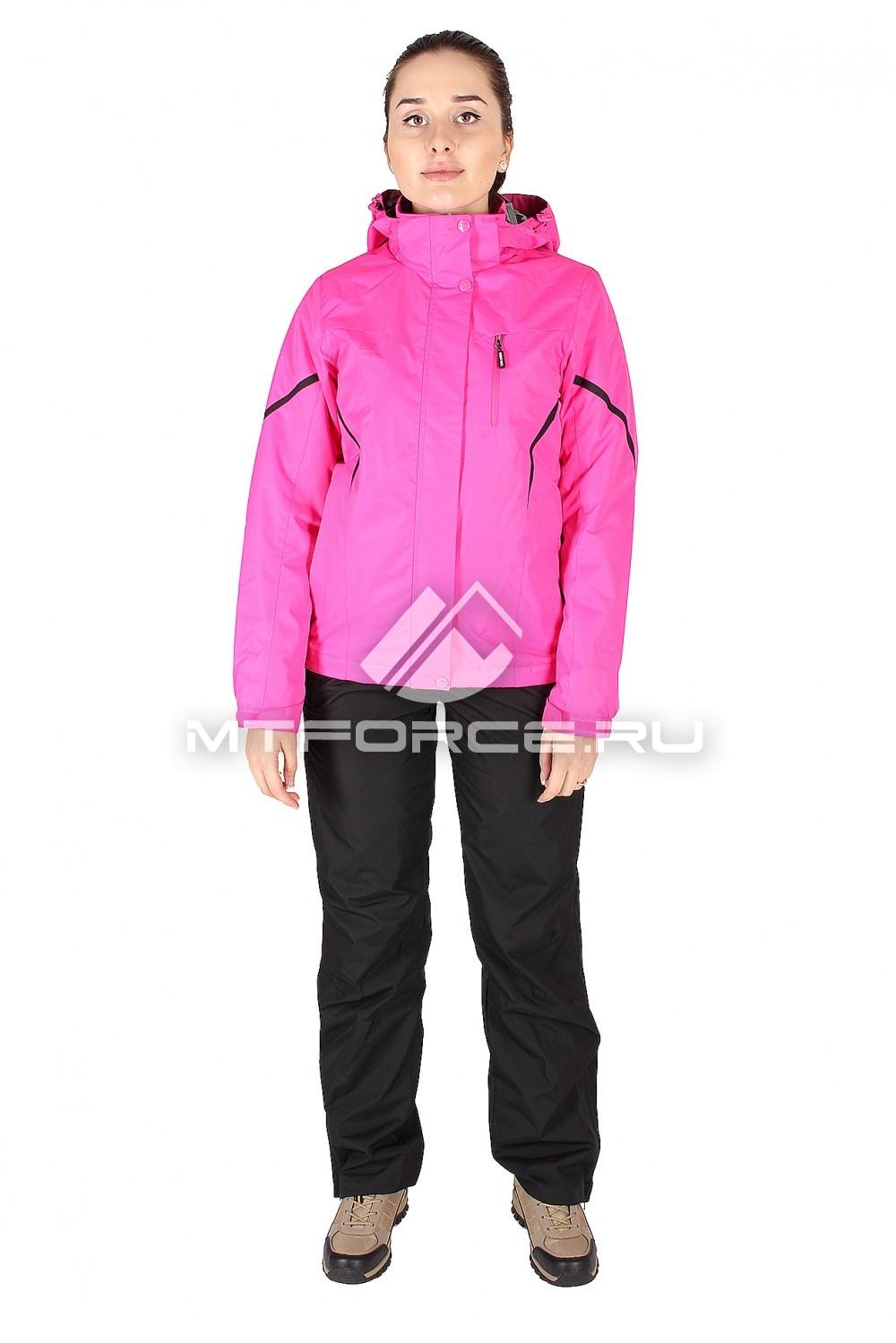 Купить                                  оптом Костюм женский розового цвета 01615R в Новосибирске