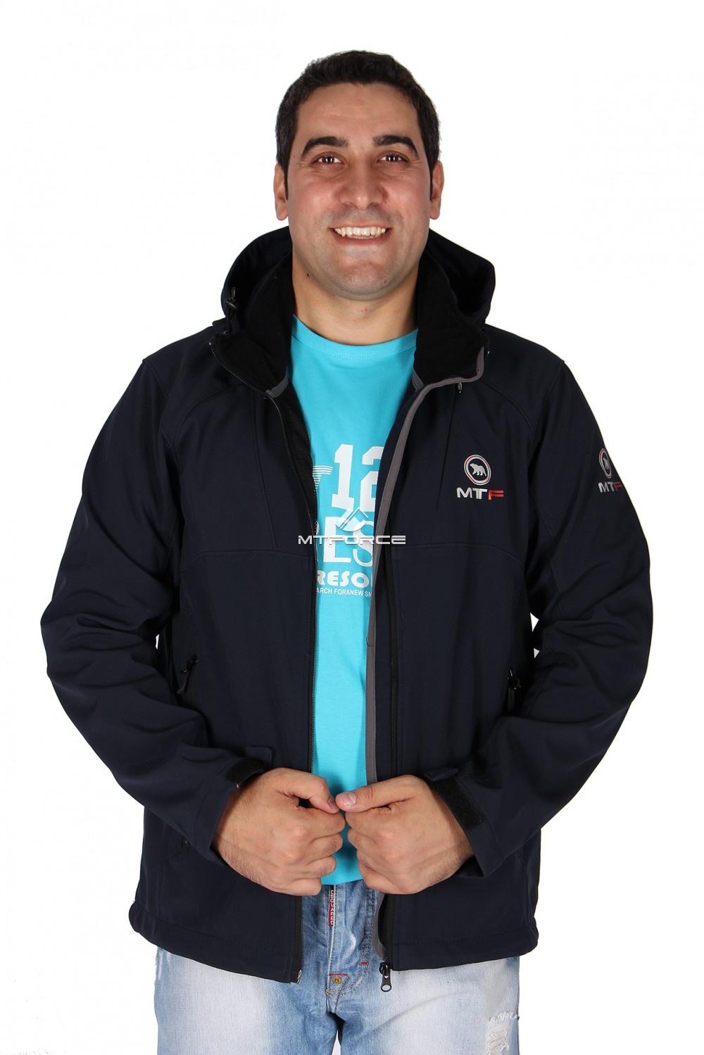 Купить оптом Ветровка - виндстоппер мужская темно-синего цвета 16170TS