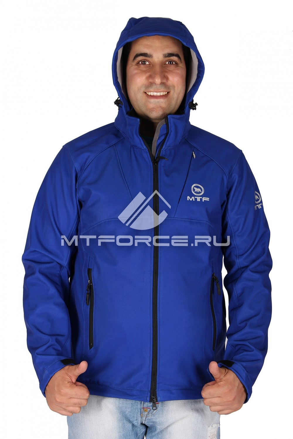 Купить оптом Ветровка - виндстоппер мужская синего цвета 1617S