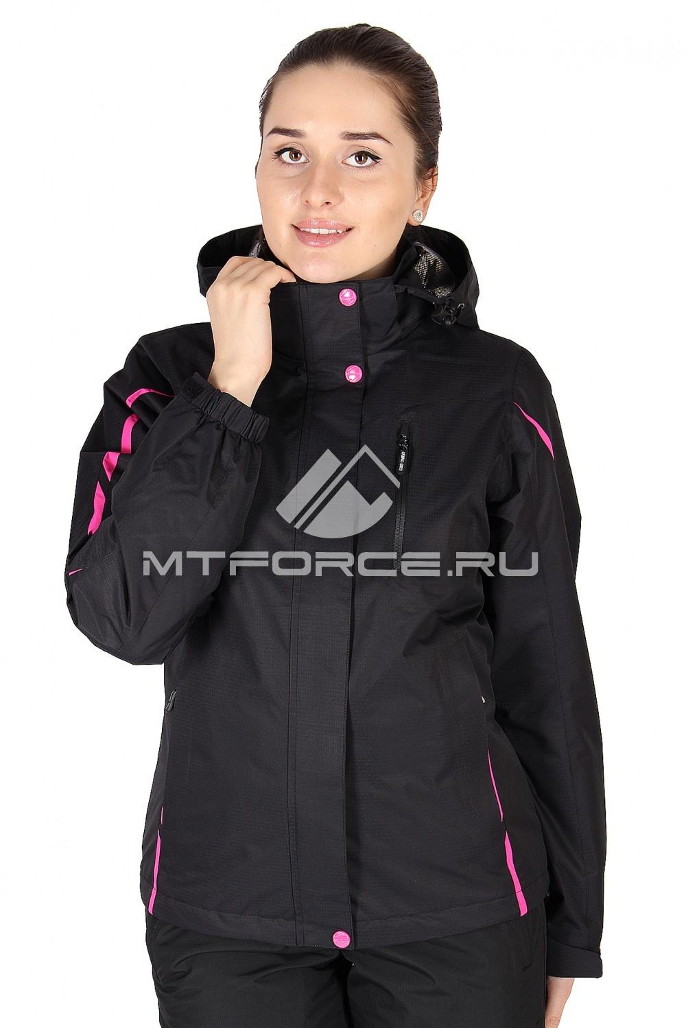 Купить                                  оптом Куртка спортивная женская весна черного цвета 1617Ch