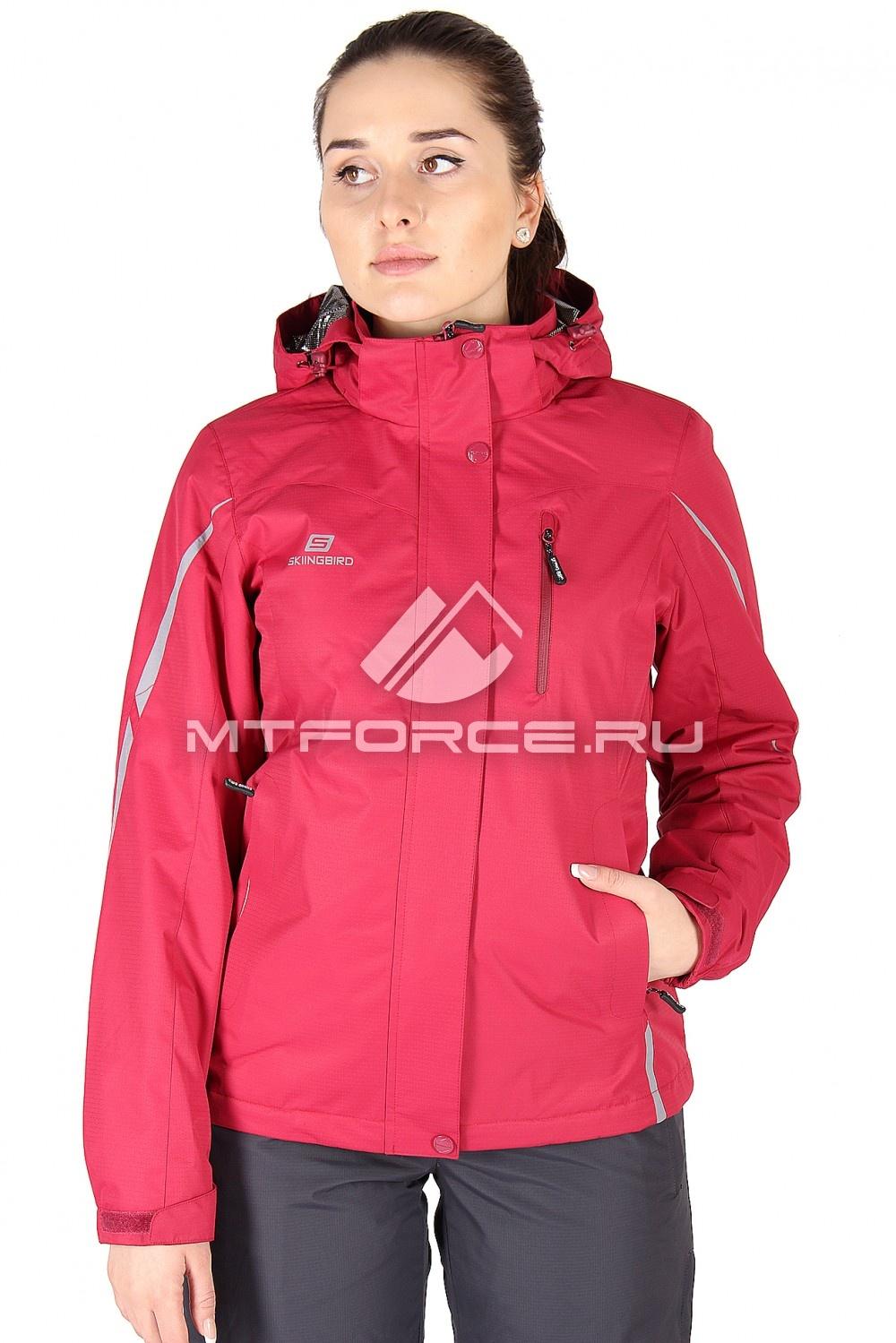 Купить                                  оптом Куртка спортивная женская весна красного цвета 1617Kr