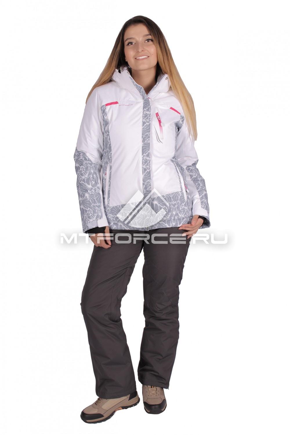 Купить                                  оптом Костюм горнолыжный женский белого цвета 01621Bl