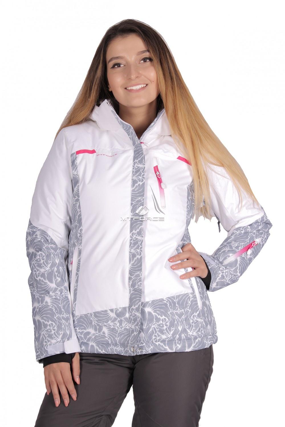 Купить оптом Куртка горнолыжная женская белого цвета 1621Bl в Санкт-Петербурге