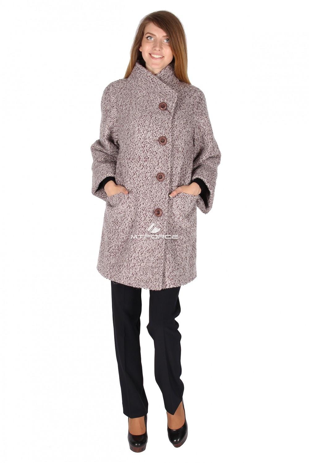 Купить оптом Пальто женское светло-коричневого цвета 16257SK в Санкт-Петербурге