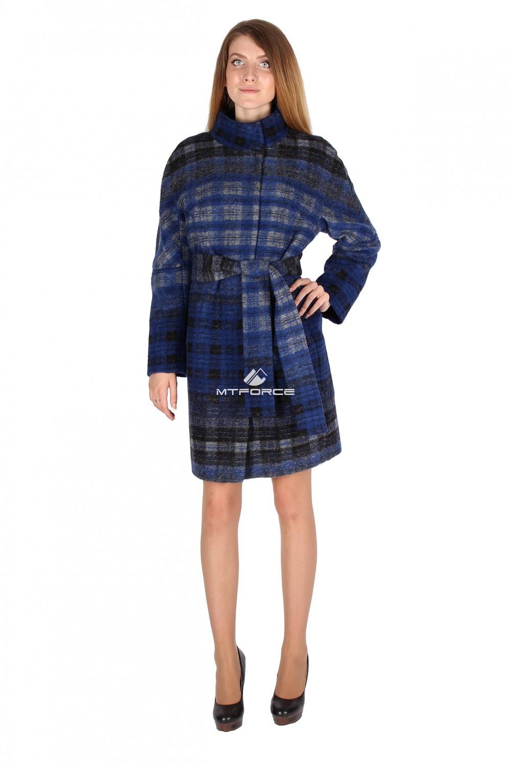 Купить                                  оптом Пальто женское синего цвета 16267S