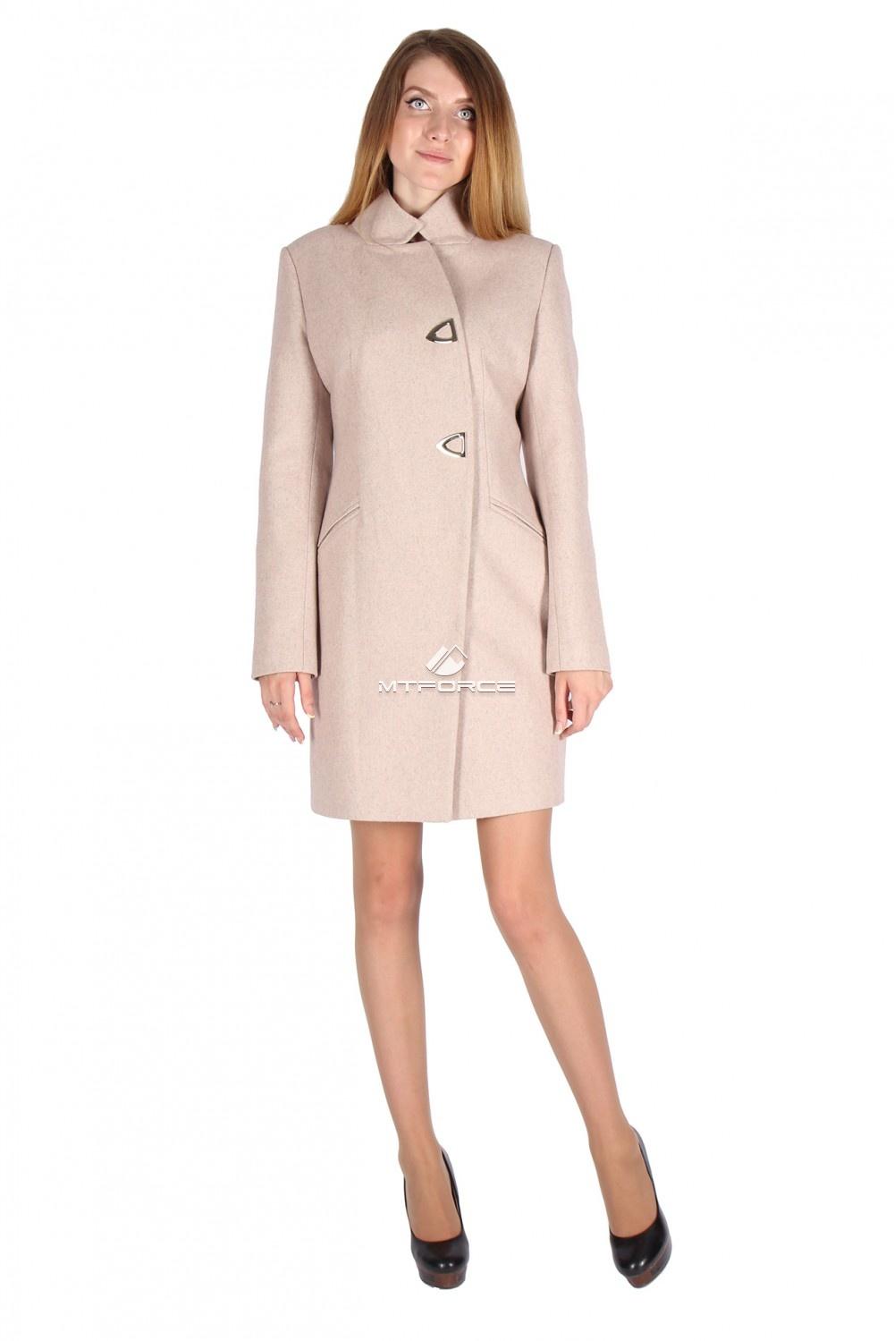 Купить оптом Пальто женское бежевого цвета 16269B