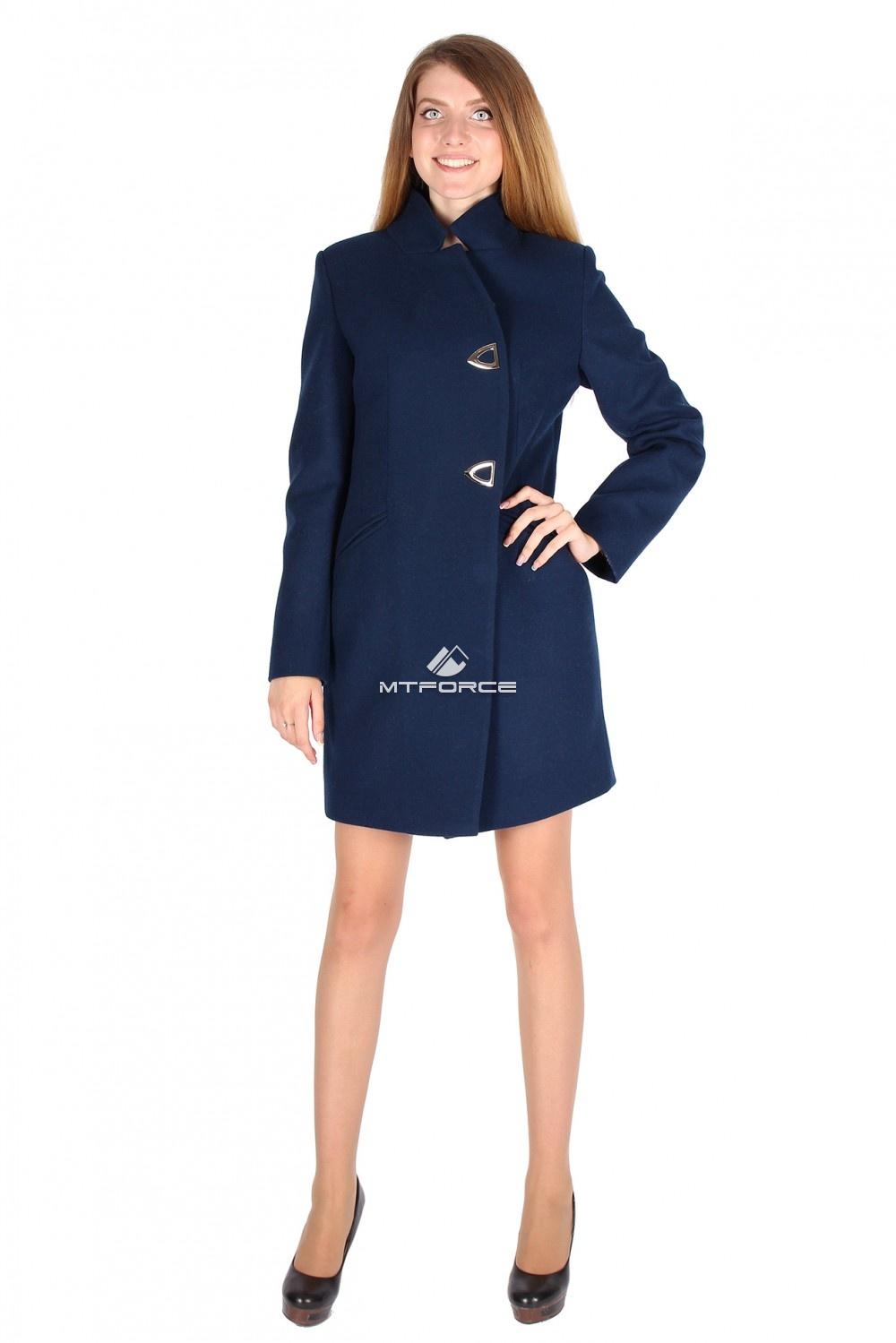 Купить                                  оптом Пальто женское темно-синего цвета 16269TS в Санкт-Петербурге