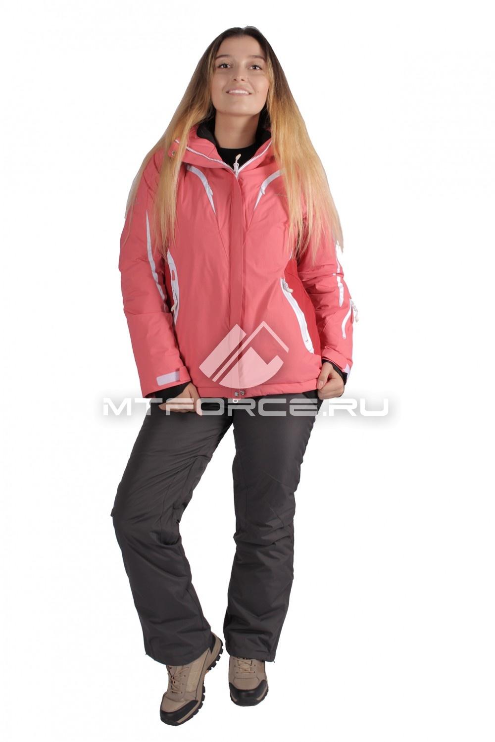 Купить                                  оптом Костюм горнолыжный женский розового цвета 01628R