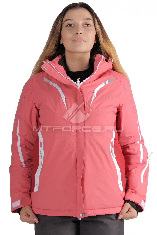 Купить                                  оптом Куртка горнолыжная женская большого размера розового цвета 1628R