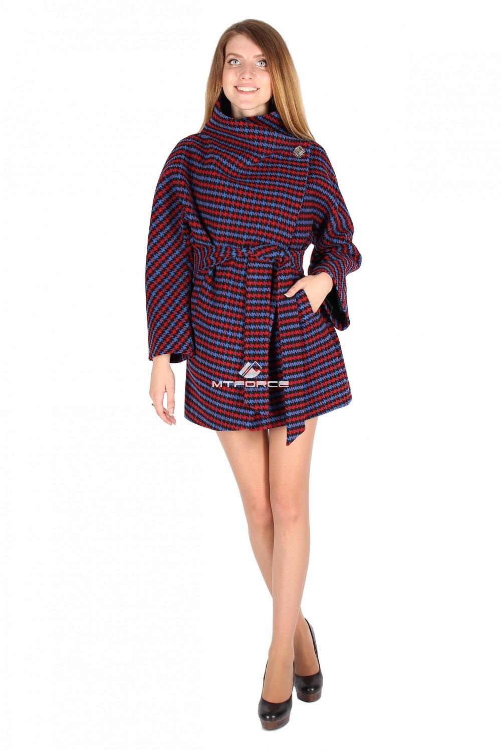 Купить оптом Полупальто женское красного цвета 16288Kr в Новосибирске