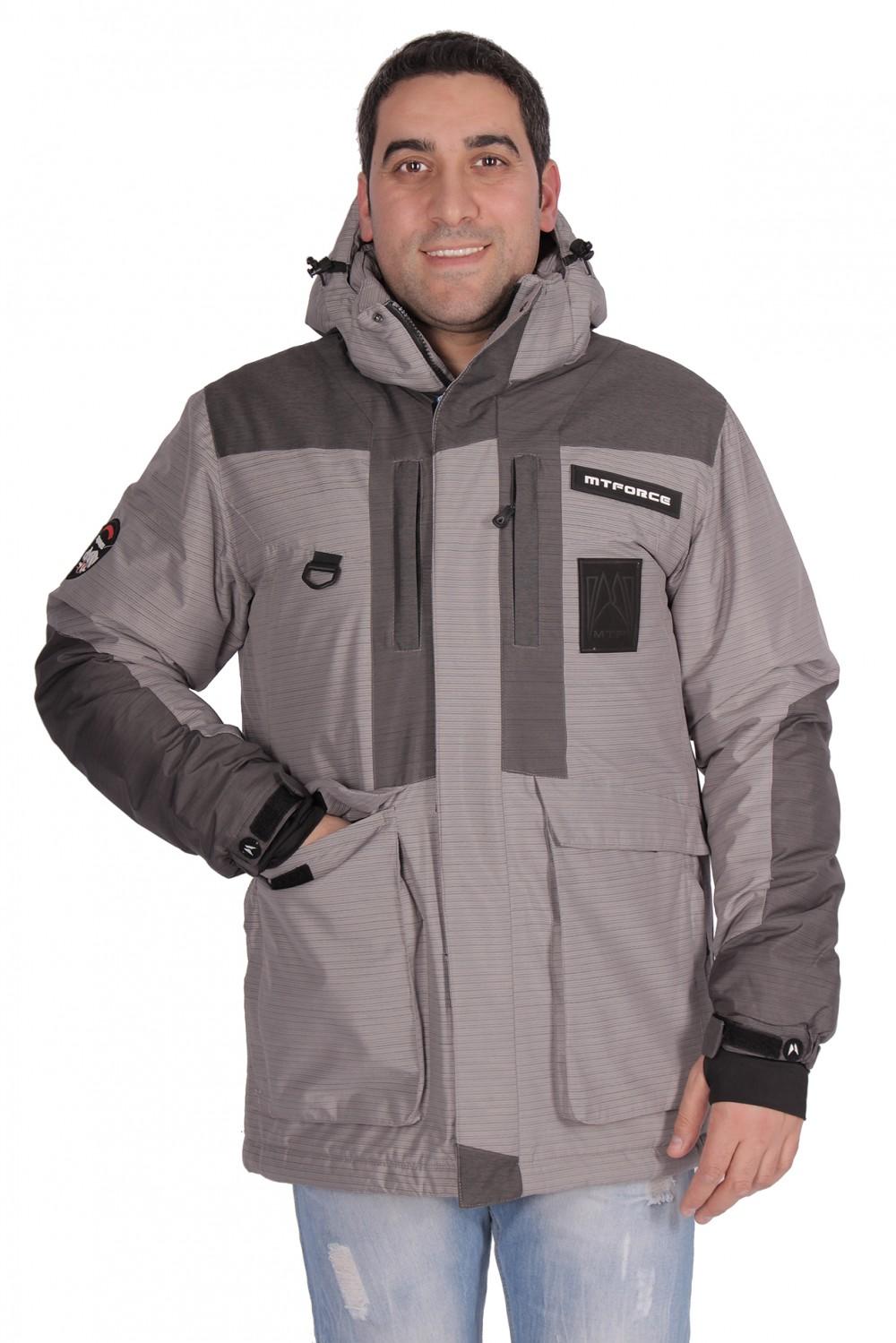 Купить оптом Куртка зимняя мужская серого цвета 1629Sr