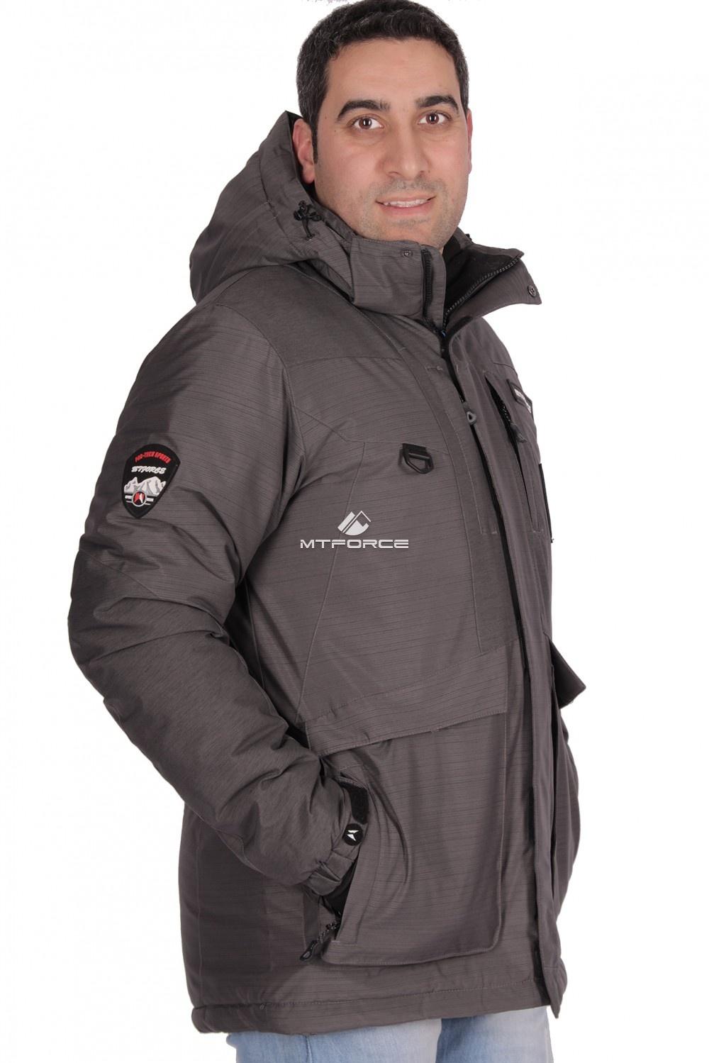 Купить оптом Куртка зимняя мужская темно-серого цвета 1629TC