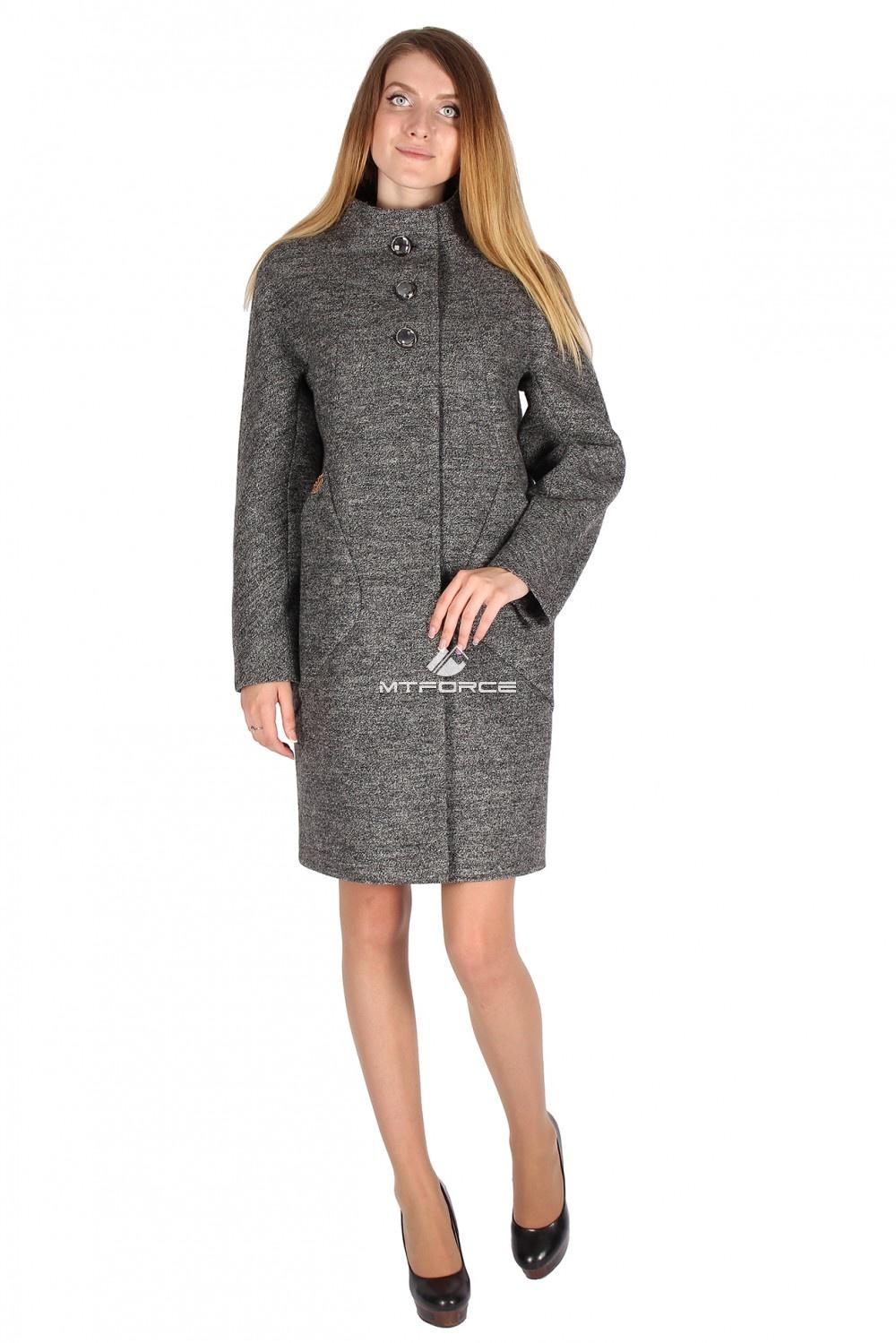 Купить  оптом Пальто женское темно-серого цвета 16291TC