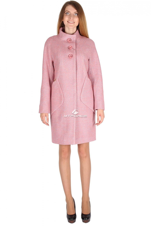 Купить                                  оптом Пальто женское розового цвета 16291R