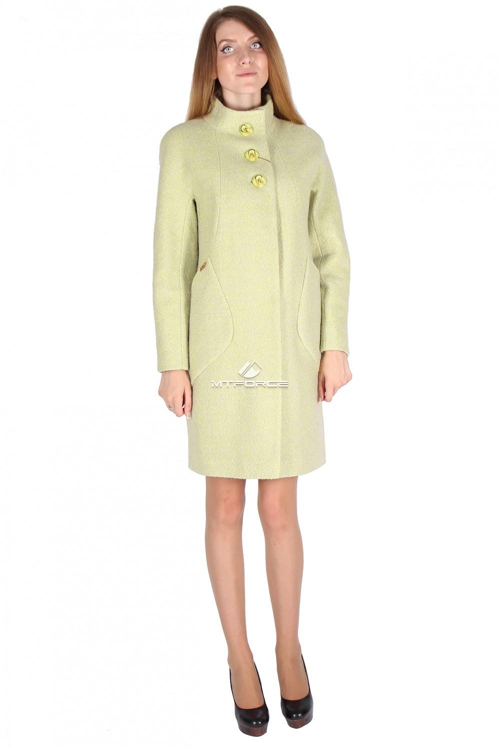 Купить  оптом Пальто женское салатового цвета 16291Sl в Новосибирске