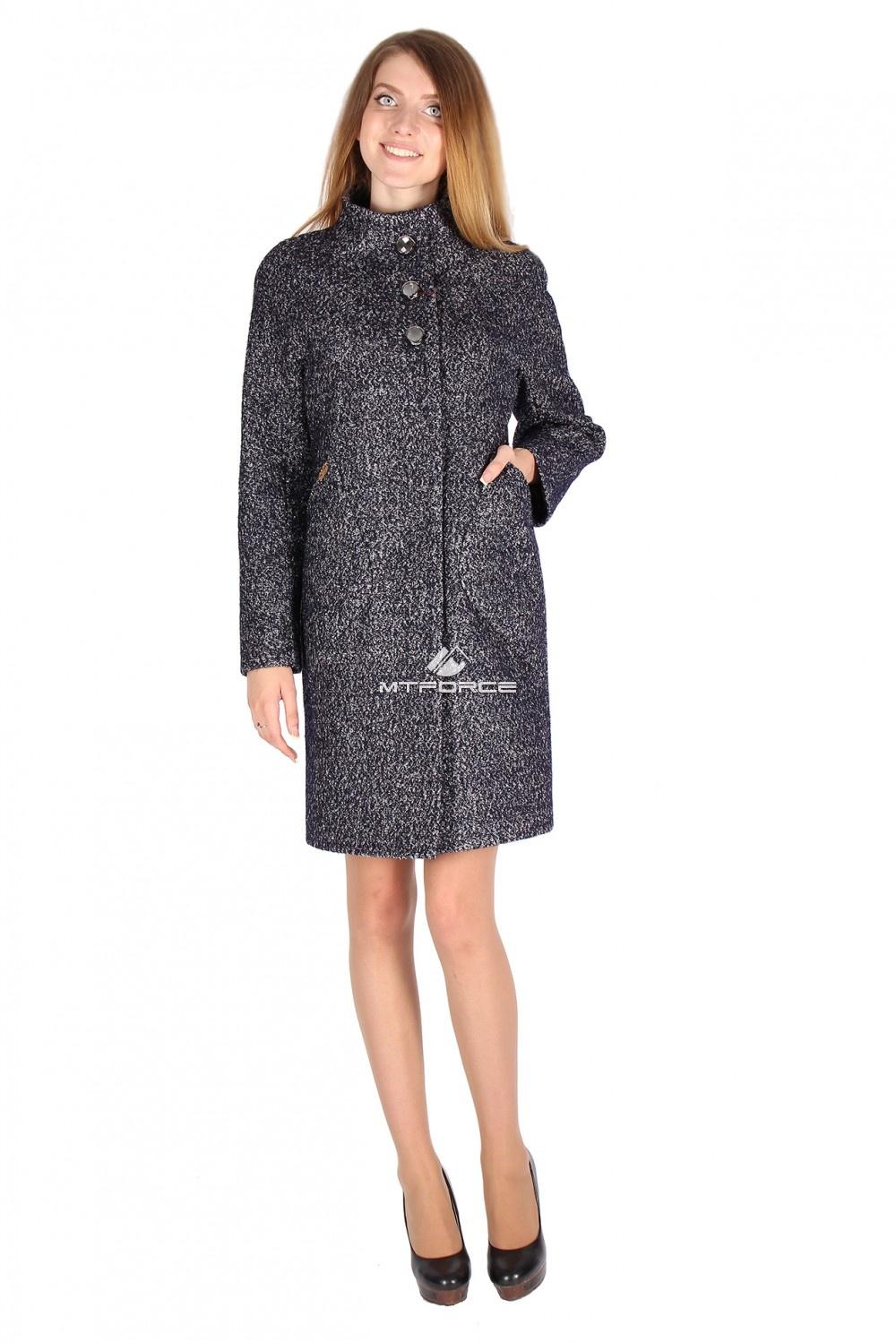 Купить                                  оптом Пальто женское темно-синего цвета 16291TS