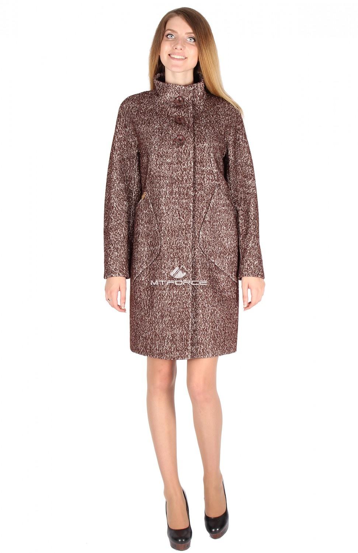 Купить                                  оптом Пальто женское коричневого цвета 16291K
