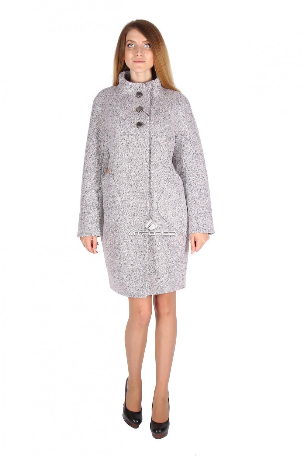 Купить                                  оптом Пальто женское серого цвета 16291Sr
