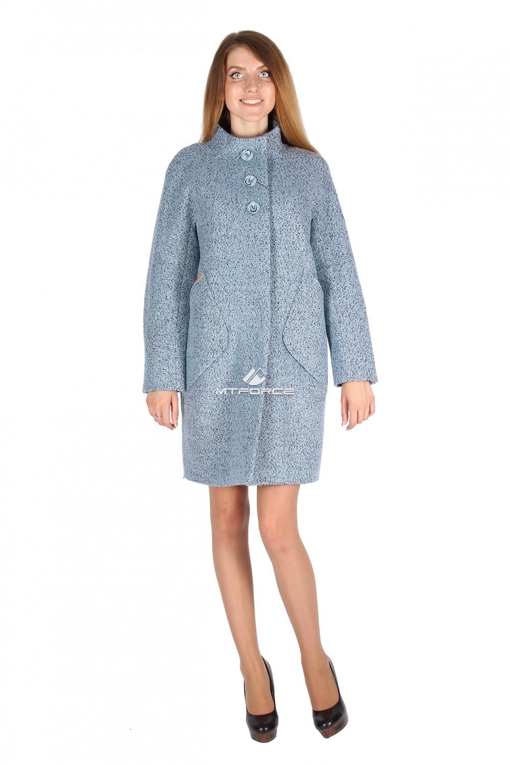 Купить оптом Пальто женское голубого цвета 16291Gl