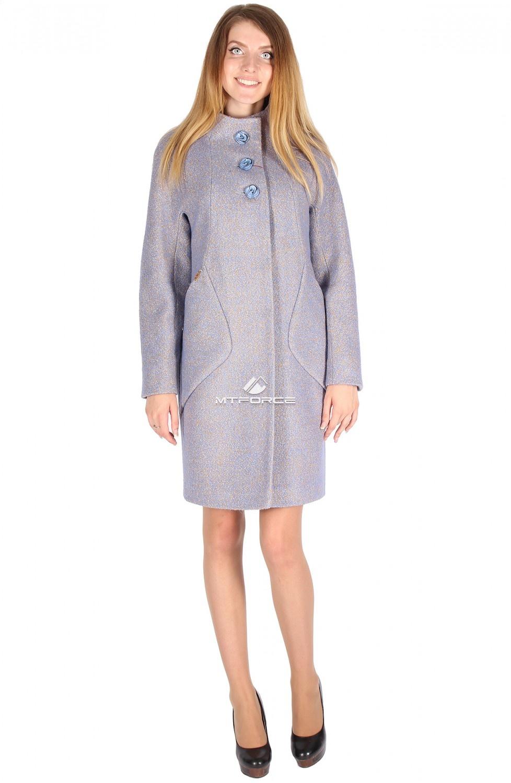Купить                                  оптом Пальто женское фиолетового цвета 16291F
