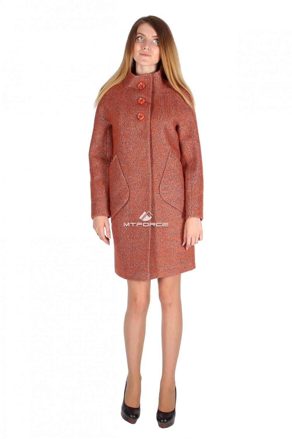Купить                                  оптом Пальто женское оранжевого цвета 16291O