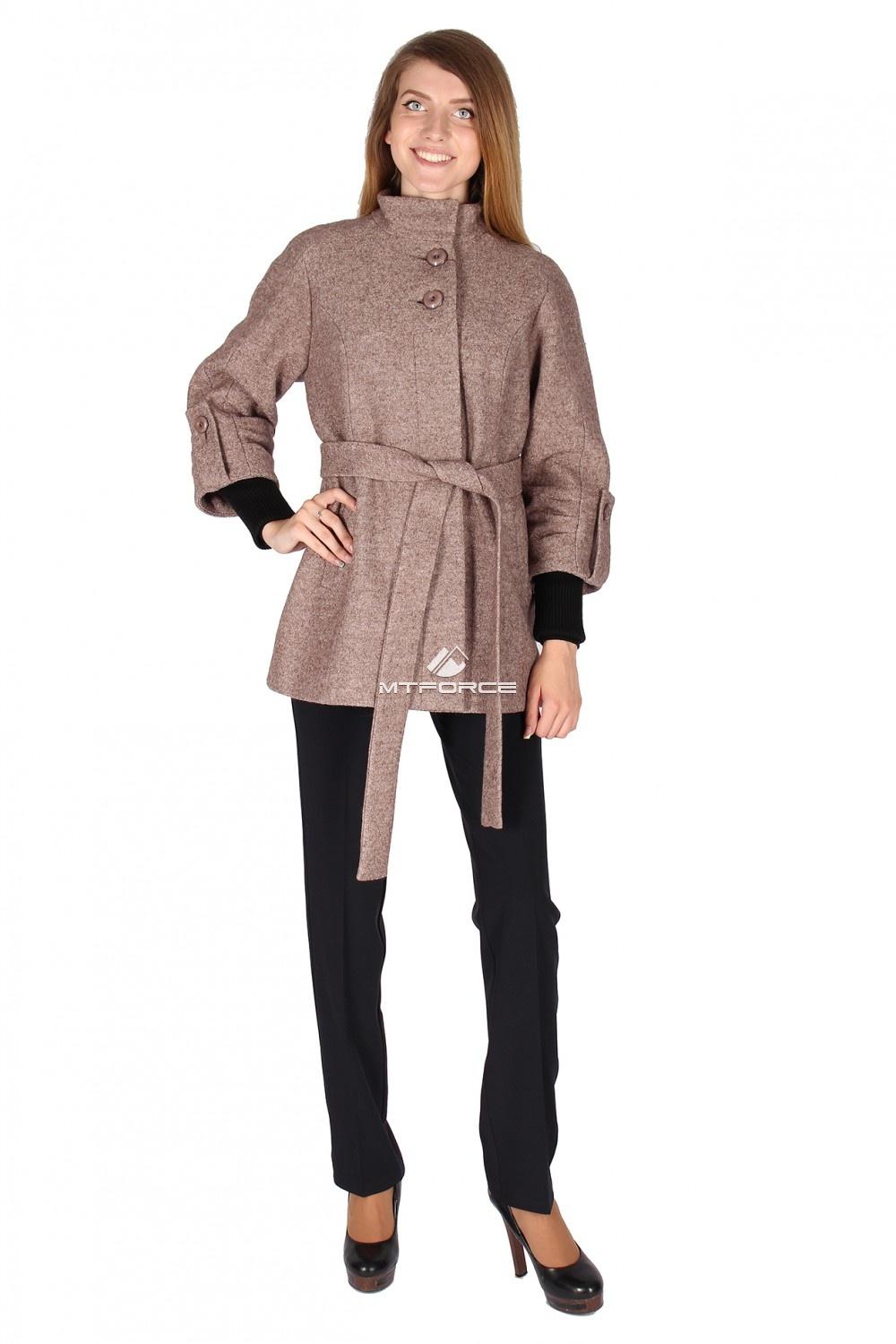 Купить                                  оптом Полупальто женское коричневого цвета 16300K
