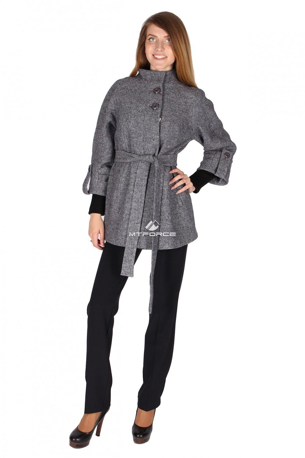 Купить оптом Полупальто женское темно-серого цвета 16300TC в Санкт-Петербурге