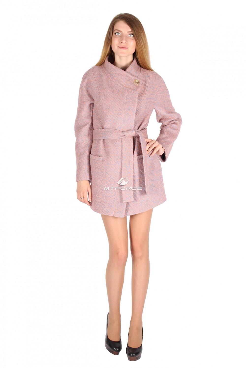 Купить                                  оптом Полупальто женское розового цвета 16309R
