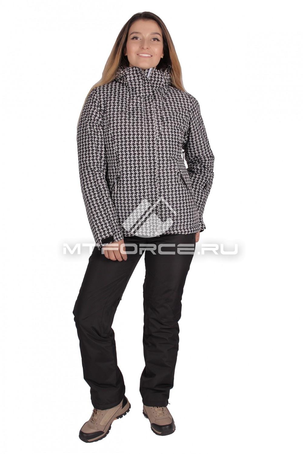 Купить                                  оптом Костюм горнолыжный женский черного цвета 01631Ch