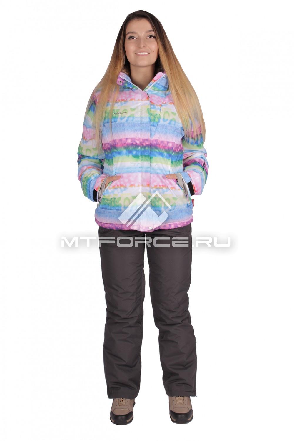 Купить                                  оптом Костюм горнолыжный женский голубого цвета 01631Gl
