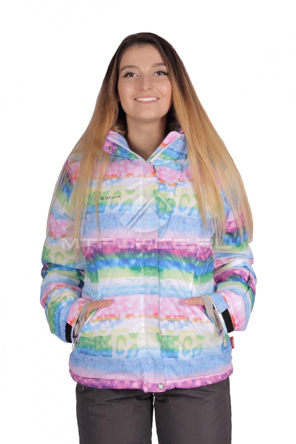 Купить                                  оптом Куртка горнолыжная женская голубого цвета 1631Gl в Санкт-Петербурге