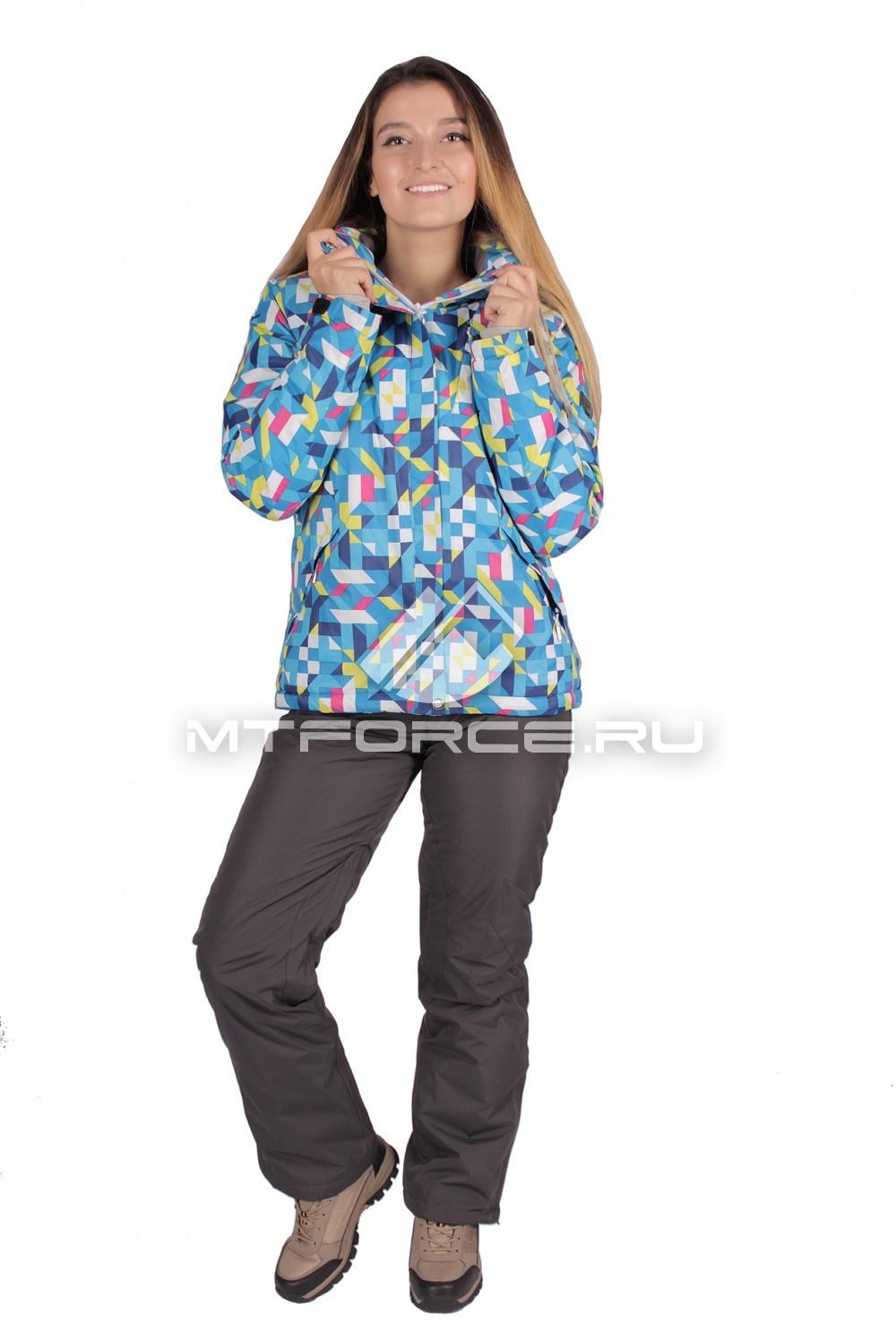 Купить                                  оптом Костюм горнолыжный женский синего цвета 01631S
